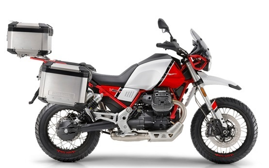 Moto Guzzi V85TT - motorcycle rental in Geneva